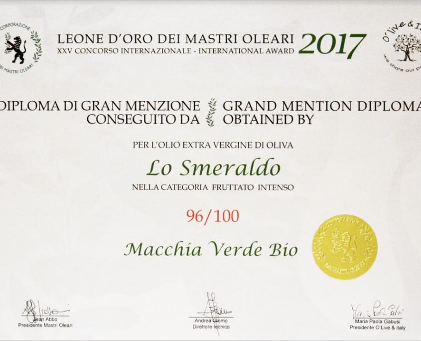 olivenöl auszeichnung leone d'oro 2
