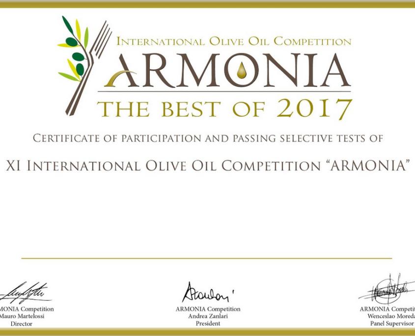 testsieger olivenöl bei Armonia