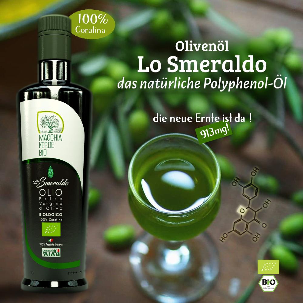 polyphenolreiches olivenöl